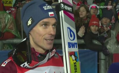 Piotr Żyła po konkursie drużynowym w Klingenthal