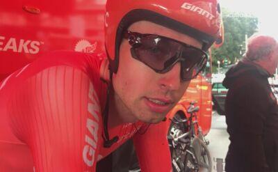 Łukasz Wiśniowski z CCC po jeździe drużynowej na czas w Tirreno-Adriatico