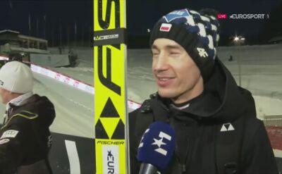 Kamil Stoch po kwalifikacjach w Trondheim