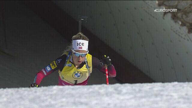 Najważniejsze momenty biathlonowego biegu pościgowego na 10 km kobiet w Novym Mescie