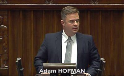 Hofman o Sienkiewiczu: Jak może zapewnić bezpieczeństwo, skoro pozwala siebie nagrywać