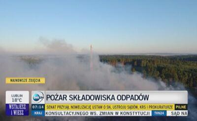 """Pożar składowiska odpadów w Jakubowie. """"Trwa dogaszanie"""""""