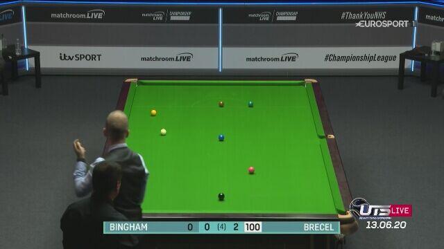 Luca Brecel nie dał szans Stuartowi Binghamowi