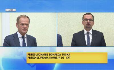 Donald Tusk przesłuchiwany przed komisją śledczą do spraw VAT