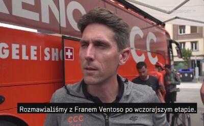 Dyrektor sportowy CCC po 12. etapie Vuelty