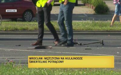 Policja o wypadku z udziałem hulajnogi