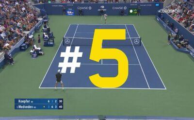 Najlepsze obrony US Open 2019