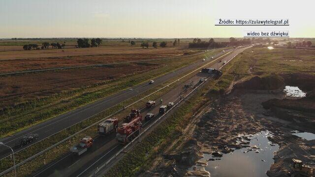 Na drodze S7 zderzyły się dwie ciężarówki