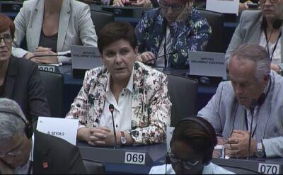 Beata Szydło po przegranym głosowaniu na szefową komisji w PE