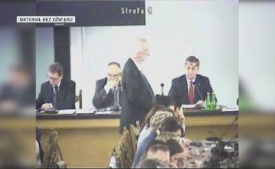 Nagranie z Sali Kolumnowej z administrowanej przez Straż Marszałkowską kamery cz. 2