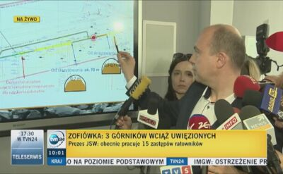 Prezes JSW: Znaleźliśmy sygnał radiowy lampy górniczej
