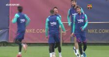 FC Barcelona trenuje przed meczem z Levante