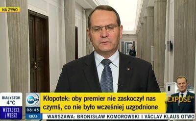 Eugeniusz Kłopotek:Mam obawy, że z tą ekipą pan premier daleko nie zajedzie