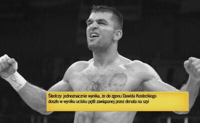 Komunikat prokuratury w sprawie zgonu Dawida Kosteckiego