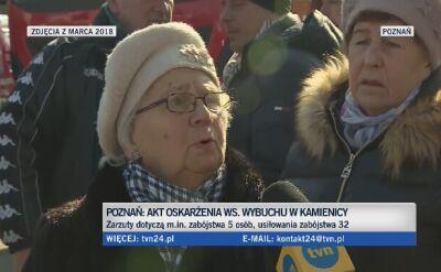 Poznań: Tomasz J. oskarżony o spowodowanie wybuchu w kamienicy na Dębcu