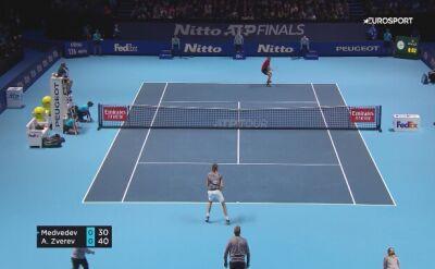 Alexander Zverev wygrał z Daniiłem Miedwiediewem