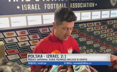 Robert Lewandowski o kibicach, którzy wbiegli na murawę w meczu z Izraelem