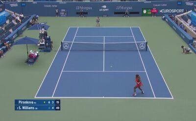 Pironkowa przełamana przez Williams w końcówce 2. seta ćwierćfinału US Open