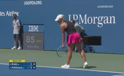 Skrót ćwierćfinału US Open: Jennifer Brady - Julia Putincewa