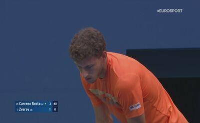 Skrót meczu Pablo Carreno Busta - Alexander Zverev w półfinale US Open