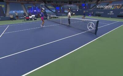 Skrót meczu Wiktoria Azarenka - Elise Mertens w ćwierćfinale US Open