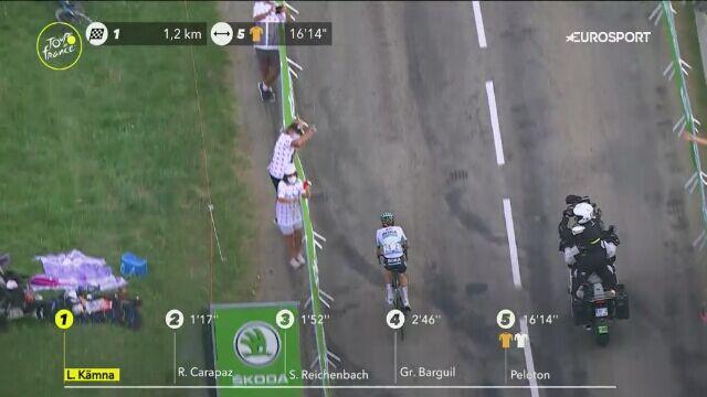 Końcówka 16. etapu Tour de France. Wygrana Kaemny