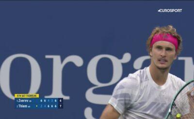 Piłka meczowa dla Dominica Thiema w finale US Open
