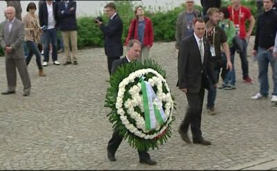 Delegacja Związku Piłkarskiego Niemiec na Westerplatte