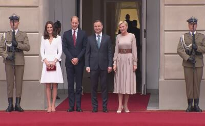 The British royal couple met with President and First Lady