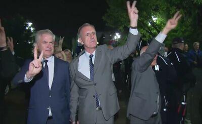 Senatorowie PO wyszli do demonstrantów