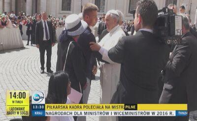 Tomasz Komenda spotkał się z papieżem Franciszkiem