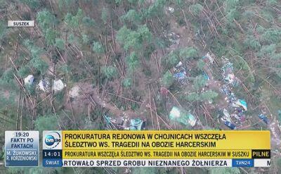 Rusza śledztwo w sprawie tragedii na obozie harcerskim