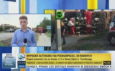 Wypadek Polskiego Busa. Kilkanaście osób ciężko rannych