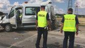 Dwóch drogowców zginęło na obwodnicy Suwałk. Uderzyła ich ciężarówka
