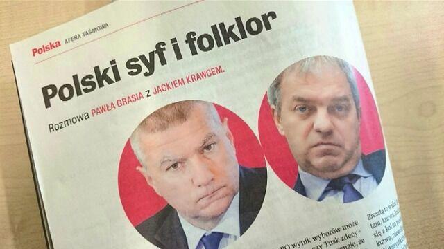 """Rozmowa Pawła Grasia z Jackiem Krawcem opublikowana przez """"Wprost"""""""