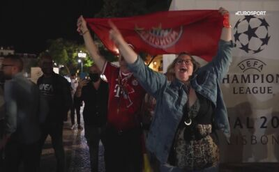 Szalona radość kibiców Bayernu Monachium po finale Ligi Mistrzów