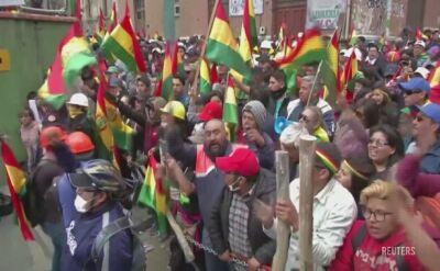 Antyrządowe protesty w Boliwii