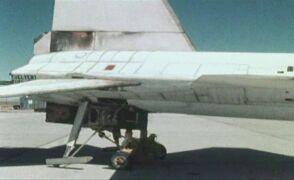 Uszkodzenia X-15 po rekordowym locie z prędkością 7274 km/h