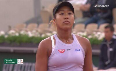 Skrót meczu Osaka - Azarenka w drugiej rundzie Roland Garros