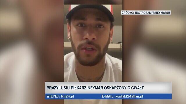 Neymar skomentował oskarżenie o gwałt