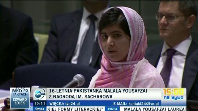 16-letnia Pakistanka z Nagrodą Sacharowa. Talibowie: nie zasłużyła na nią