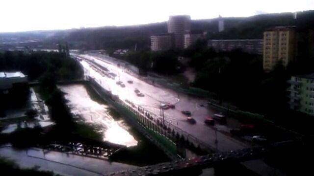 Nowa Słowackiego w Gdańsku zalana po burzy