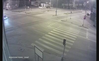 Nietypowa sytuacja w Kaliszu na skrzyżowaniu