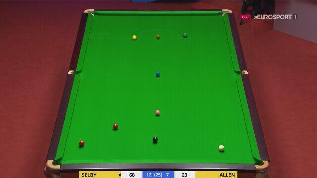 Ostatnie zagrania Marka Selby'ego w meczu z Allenem w 2. rundzie mistrzostw świata