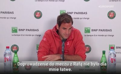 Roger Federer cieszy się na spotkanie z Rafaelem Nadalem