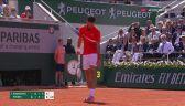 Piłka meczowa dla Dominica Thiema z Novakiem Djokoviciem