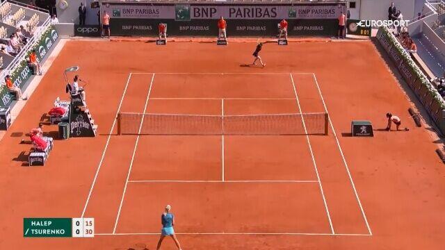 Skrót meczu Halep - Curenko w trzeciej rundzie Roland Garros