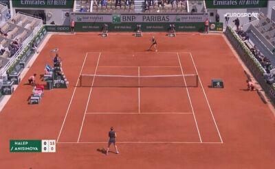 Skrót meczu Halep - Anisimova