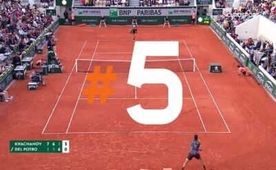 Najlepsze zagrania po 10 dniach rywalizacji w Roland Garros