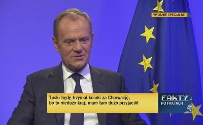 """Tusk kibicuje Chorwacji. """"Piękny i ambitny futbol"""""""